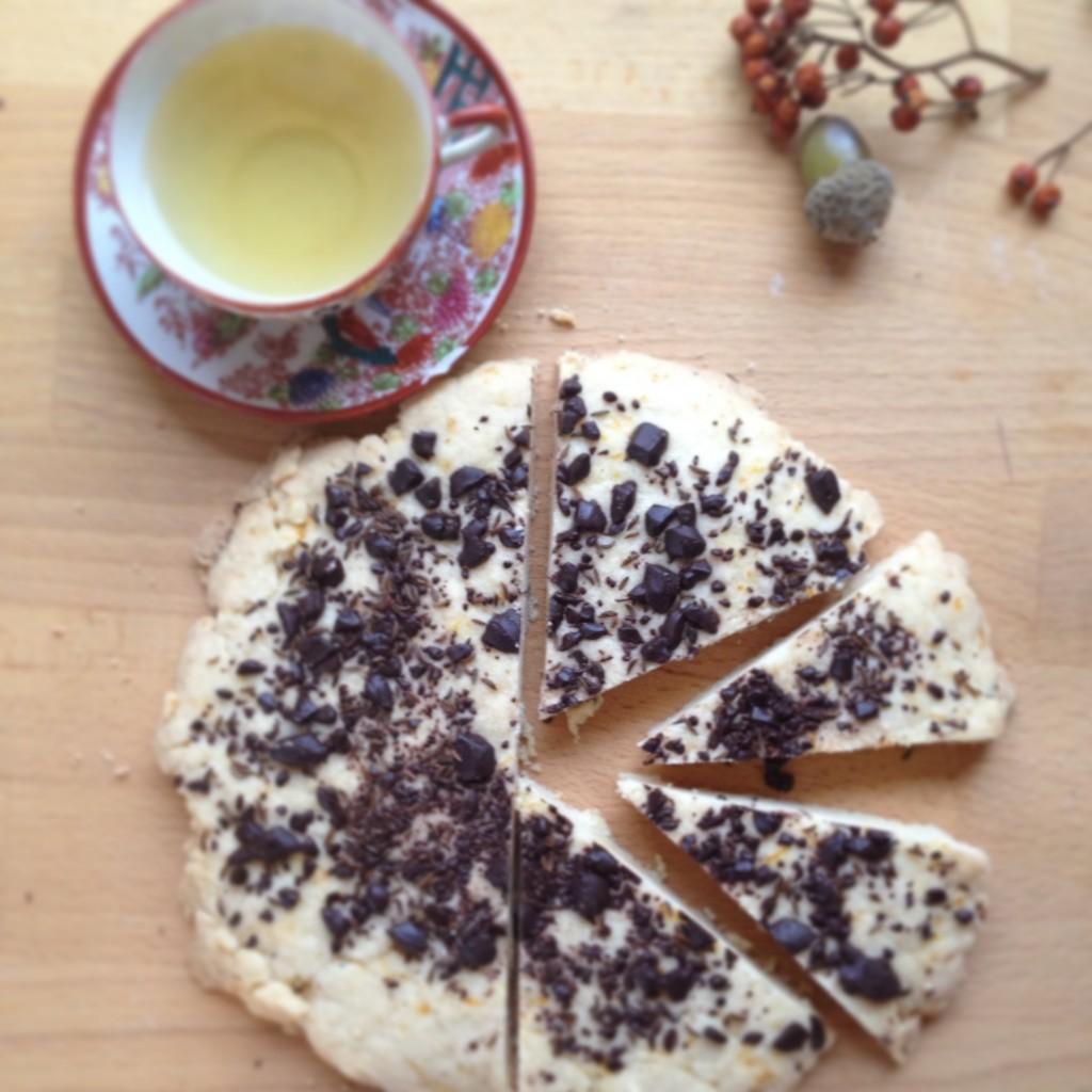 Shortbread mit Schokolade und Kuemmel
